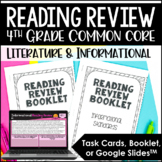 4th Grade Reading Review with Digital Reading Test Prep Google Slides™ Version