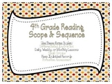 4th Grade Common Core Reading Scope and Sequence