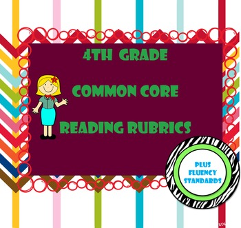 4th Grade Common Core Reading Standards Rubrics