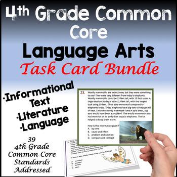 4th Grade Common Core Reading Task Card Bundle