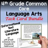 4th Grade Common Core Reading Task Card Bundle Plus TPT Di