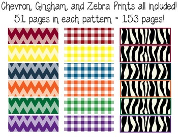 4th Gr. Common Core Tracking Sheets Math & ELA Bundle-Chevron, Gingham, & Zebra