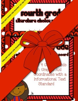 4th Grade Common Core Standards Choice Boards/Graphic Aids  ~w/ Task Card Option