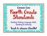 "4th Grade Common Core Standards - ELA & Math ""Teach & Asse"