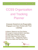 4th Grade Common Core Standards Organization and Tracking Planner 4th