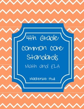 4th Grade Common Core Standards Reference