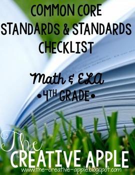 4th Grade Common Core Standards & Standards Checklist