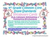 4th Grade Common Core State Standard ELA Vocabulary Cards Set 1
