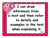4th Grade Common Core State Standard: Language Arts I Can Statements w/ Monsters