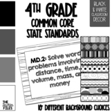 4th Grade Common Core State Standards (CCSS) Display Black
