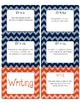 4th Grade Common Core CCSS Labels and Posters Math and ELA-Chevron Print