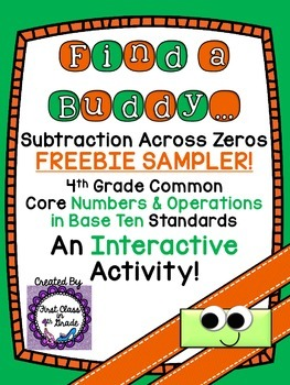 4th Grade Common Core Subtraction Across Zeros... by Teach Like A ...