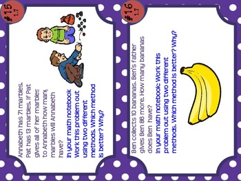 4th Grade Common Core Task Cards: Multi-Step + and - Unit 1 Week 7
