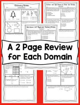 4th Grade Math Test Prep: All Standards Mega Bundle