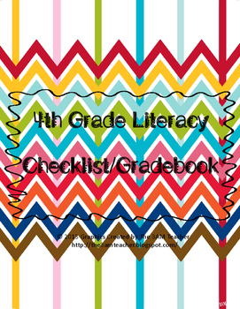 4th Grade Common Core Tracking Sheets for Literacy
