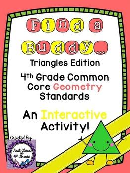 4th Grade Common Core Triangles (Find A Buddy)