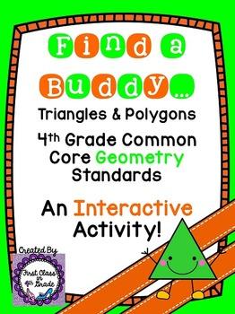 4th Grade Common Core Triangles & Polygons (Find a Buddy)