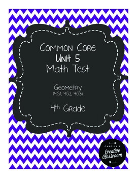 4th Grade Common Core Unit 5 Math Test: Geometry