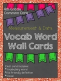 *UPDATED* 4th Grade Common Core Vocabulary Word Wall: Measurement and Data