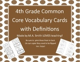 4th Grade Common Core Vocabulary Words with Definitions