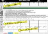 4th Grade Common Core Weekly Lesson Plan Template - ELA & Math (Portrait)