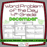 Word Problems 4th Grade, December