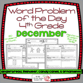 Word Problems 4th Grade, December