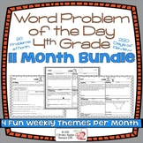 Word Problems 4th Grade Bundle, Spiral Review, Distance Learning