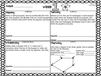 Word Problems 4th Grade Bundle