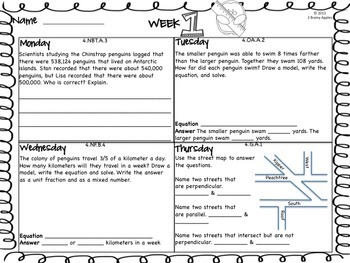 Word Problems 4th Grade Bundle