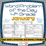 Word Problems 4th Grade, January
