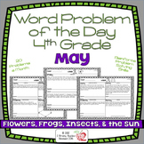 Word Problems 4th Grade, May, Spiral Review, Distance Learning