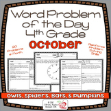 Word Problems 4th Grade, October