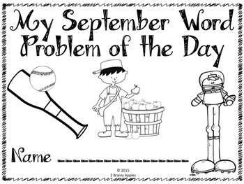 Word Problems 4th Grade, September