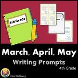 Writing Prompts 4th Grade Common Core Bundle March, April,