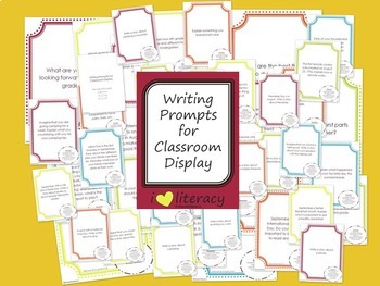 Writing Prompts 4th Grade Common Core Bundle September, October, and November