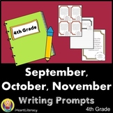 Writing Prompts 4th Grade Common Core Bundle September, Oc