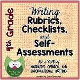 4th Grade Common Core Writing Rubrics & Checklists for the ENTIRE YEAR!