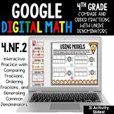 4th Grade Compare & Order Fractions Unlike Denominators Go