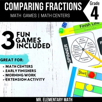 Comparing Fractions Games and Centers 4th Grade