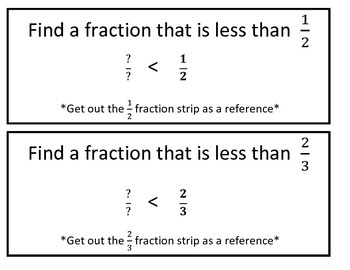 4th Grade Comparing Fractions (2 Games in 1) for Common Core