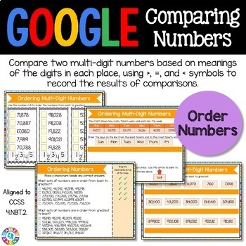 4th Grade Comparing Numbers Digital Practice {4.NBT.2} - Google Classroom
