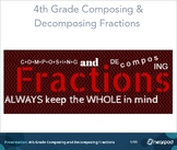 4th Grade Composing and Decomposing Fractions