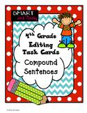 4th Grade Compound Sentence Task Cards TEKS/ STAAR Aligned
