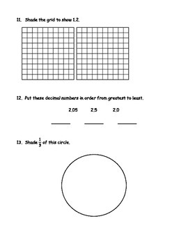 4th Grade Comprehensive Math Assessment