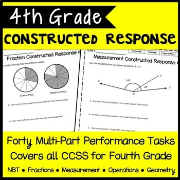 4th Grade Constructed Response, 40 Multi-Part CCSS-Aligned Performance Tasks