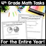 4th Grade Math Constructed Response Bundle, 40 Multi-Part Performance Tasks