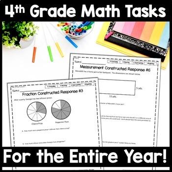 4th Grade Math Constructed Response Bundle 40 Multi Part Performance Tasks