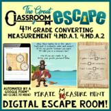 4th Grade Converting Measurement Digital Escape Room - Dis