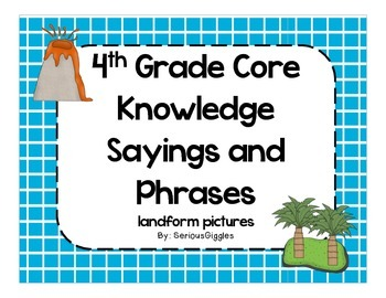 4th Grade Core Knowledge Sayings and Phrases